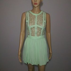 Nameless Mini Dress with Sheer Top Size S